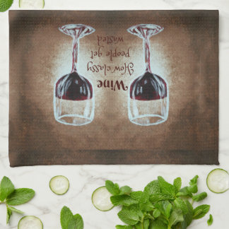 Wein-Glas-Sprichwort-Küchen-Tuch Handtuch
