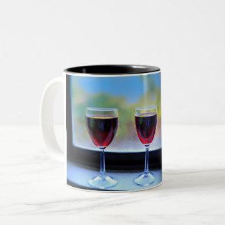 Wein-Glas Zweifarbige Tasse