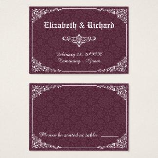 Wein-gotische viktorianische visitenkarte