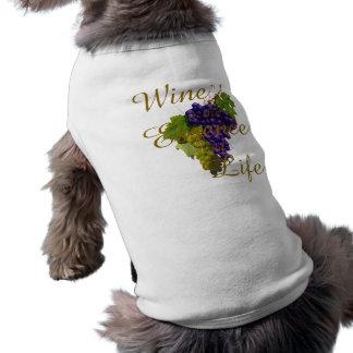Wein ist das Wesentliche des Leben-Haustier-T - Top