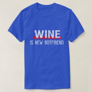 Wein ist neuer Freund-lustiger Valentinstag T-Shirt