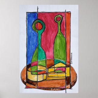 Wein-, Käse-u. Stangenbrot-Mittagessen | Paris, Poster