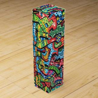 Wein-Kasten mit Graffiti desigbn Sup#10 Wein-Geschenkverpackung