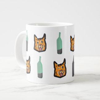 Wein-Katzen-nie allein riesige Tasse