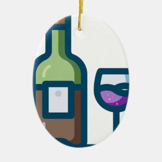 Wein Keramik Ornament