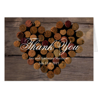 Wein-Korken #2 - rustikal danke Anmerkungen Karte