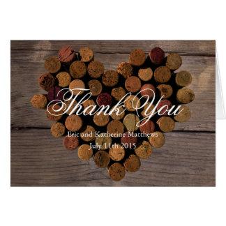Wein-Korken #2 - rustikal danke Anmerkungen Mitteilungskarte