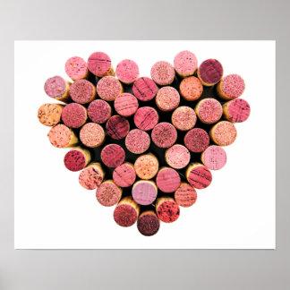 Wein-Korken-Herz-Plakat