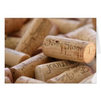 Wein-Korken Karte