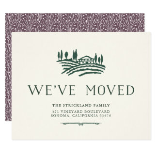 Wein-Land-bewegliche Mitteilung 10,8 X 14 Cm Einladungskarte