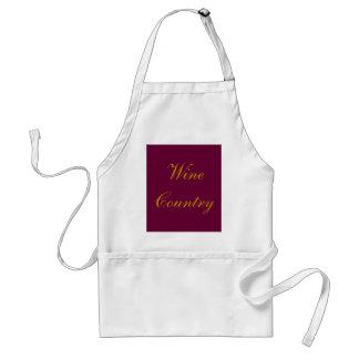 Wein-Land-Schürze - Merlot Burgunder und Gold