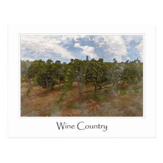 Wein-Land-Trauben-Weinberg für Wein-Thema Postkarte