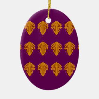 Wein-Mandalasgold Keramik Ornament