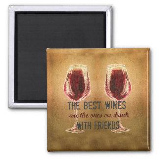 Wein mit Freund-Magneten Quadratischer Magnet