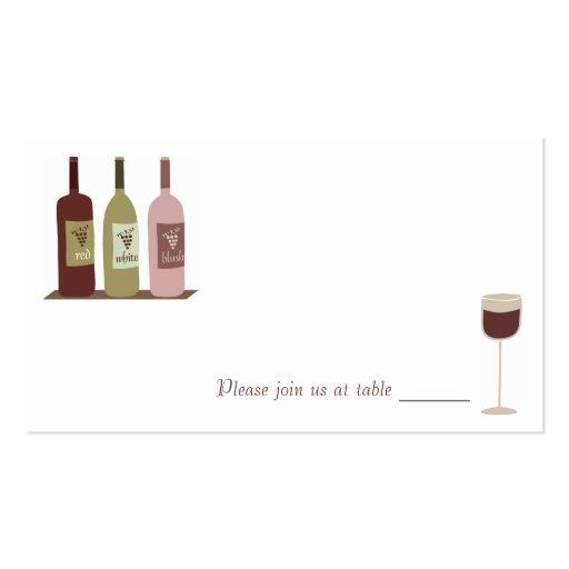 Wein-Platzkarten Visitenkarten