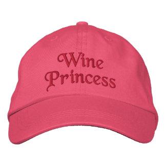 Wein-Prinzessin Bestickte Kappen
