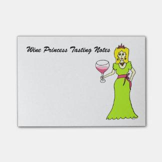 Wein-Prinzessin Tasting Notes Post-it Klebezettel