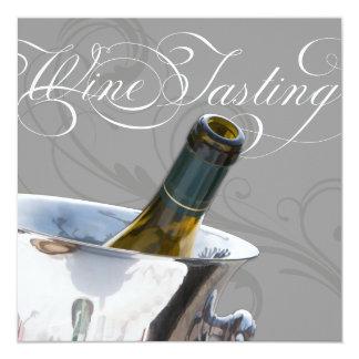 Wein-Probieren-Abendessen-Party Einladung