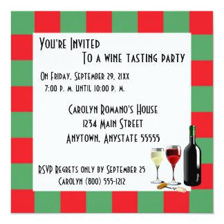 Wein-Probieren-Party Personalisierte Einladungen
