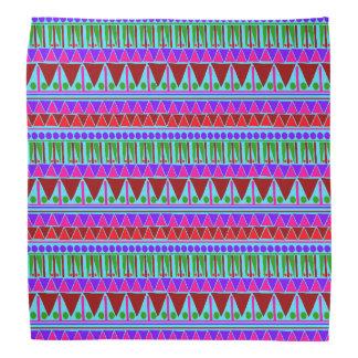 Wein-rosa Azteke Stripes ethnische Muster Boho Art Kopftuch