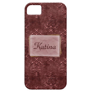 Wein-rosa Tapisserie-Druck-Case-Mate iPhone 5 iPhone 5 Hülle