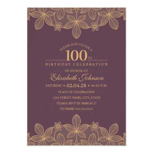 Wein Rot 100. Geburtstags Party Einzigartige Karte ...
