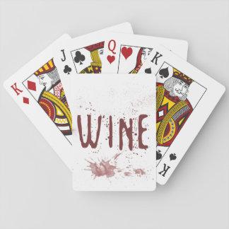 Wein Spielkarten