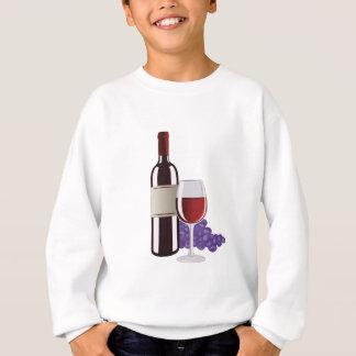 Wein u. Trauben Sweatshirt