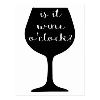 Wein-Uhr Postkarte