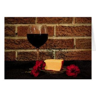 Wein und Käse, die an Sie denken Karte