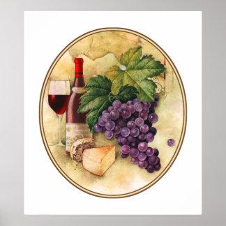 Wein und Käse Posterdrucke