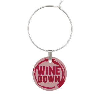 """""""Wein unten"""" wine sayin Umbau Weinglas Anhänger"""