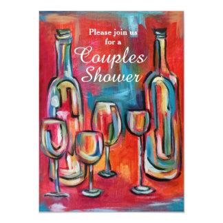 Wein verbindet Polterabend-Party 11,4 X 15,9 Cm Einladungskarte