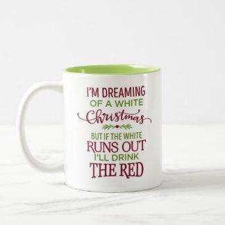 Wein-Weihnachten Zweifarbige Tasse