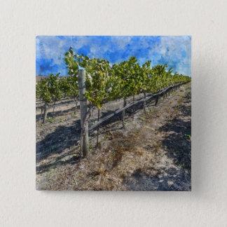 Wein-Weinberg in Napa Valley Quadratischer Button 5,1 Cm