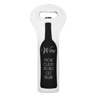 Wein, wie noble Leute betrunken erhalten Weintasche