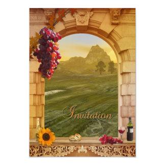 Weinberg-Hochzeit im Herbsts-Einladung 12,7 X 17,8 Cm Einladungskarte