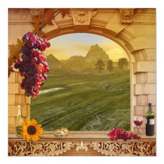 Weinberg-Hochzeit im Herbsts-Einladung Quadratische 13,3 Cm Einladungskarte