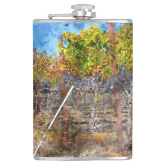 Weinberg im Herbst in Napa Valley Kalifornien Flachmann