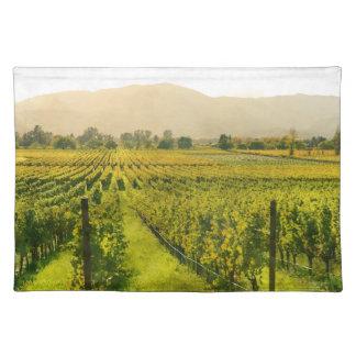 Weinberg im Herbst in Napa Valley Kalifornien Tischset