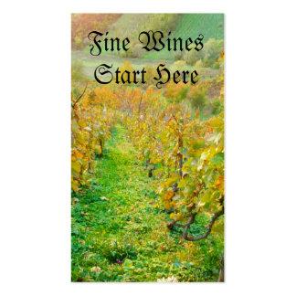Weinberg im Herbst Visitenkarten