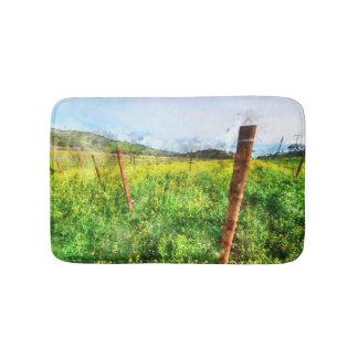 Weinberg in Napa Valley Kalifornien Badematte