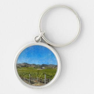 Weinberg in Napa Valley Kalifornien Schlüsselanhänger