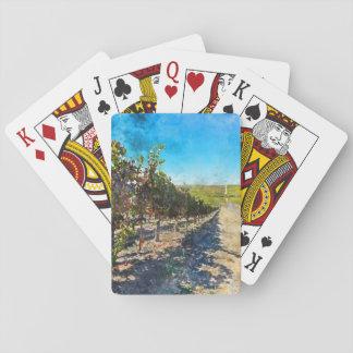 Weinberg in Napa Valley Kalifornien Spielkarten
