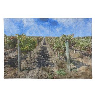 Weinberg in Napa Valley Kalifornien Stofftischset