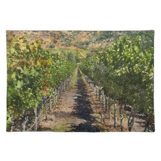Weinberg in Napa Valley Kalifornien Tischset