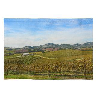 Weinberg Napa Valley Kalifornien Stofftischset