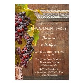Weinberg-Wein-Themed Verlobungs-Einladung Karte