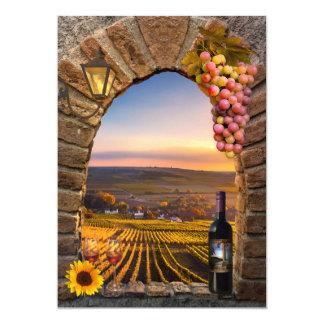 Weinberg-Wein-themenorientierte Karte