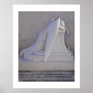 Weinen Sie nie allein (Seitenansicht) Plakat 16x20